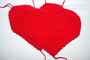 Kleines Herzkissen häkeln - Darling - kostenlose Anleitung