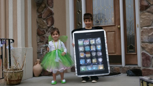 iPhone & Tinkerbell Costume 2009