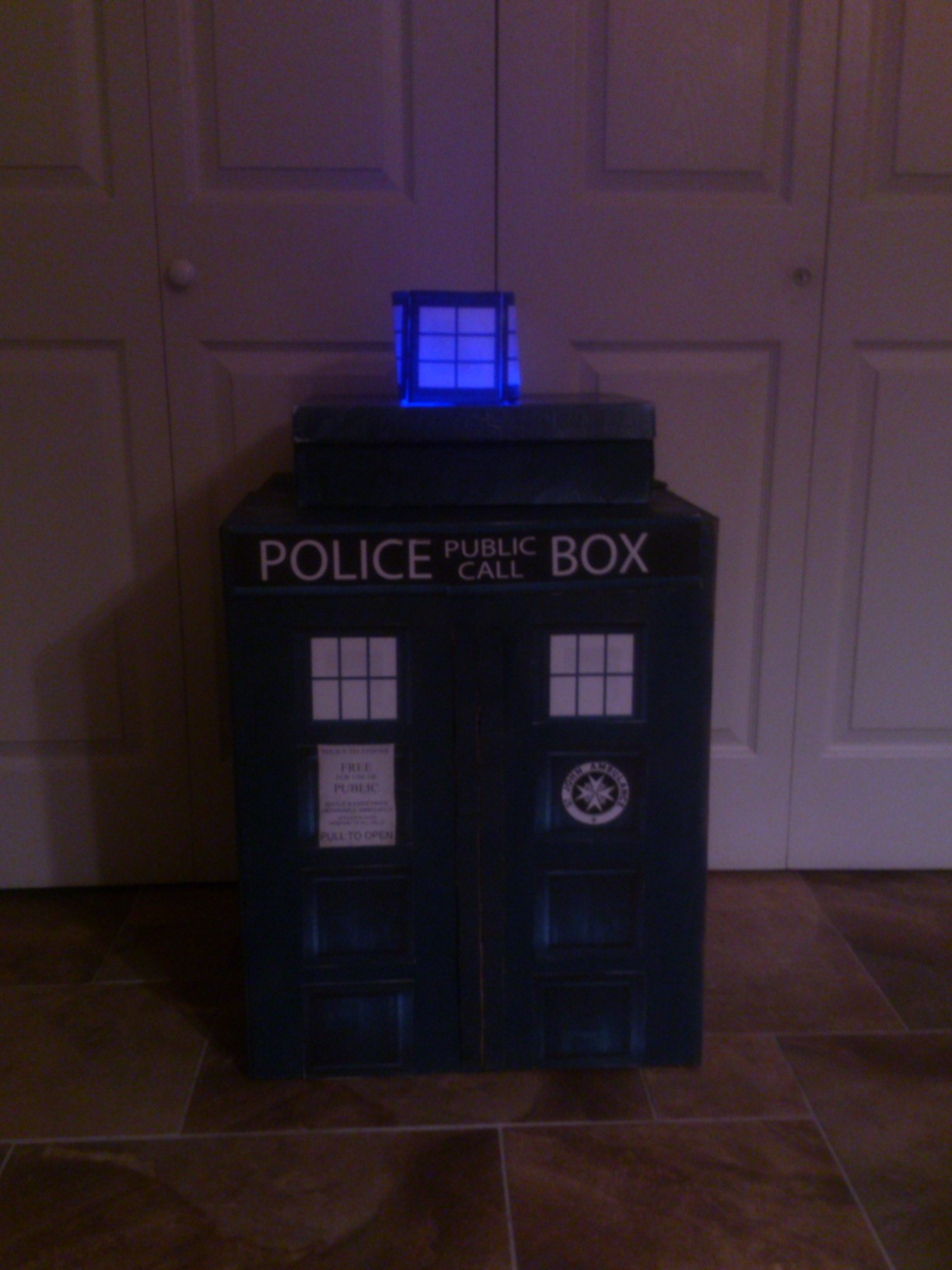 Halloween 2013 Time Travel with a Dr Who Tardis Costume