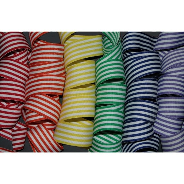 "1.5"" Taffy Stripe Grosgrain Ribbon"