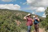 Sarah and Abigail on a Mountain Hike