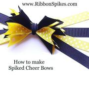 cheerleader bows ribbonspikes