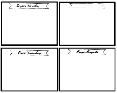 Scripture Journaling 4 Squares
