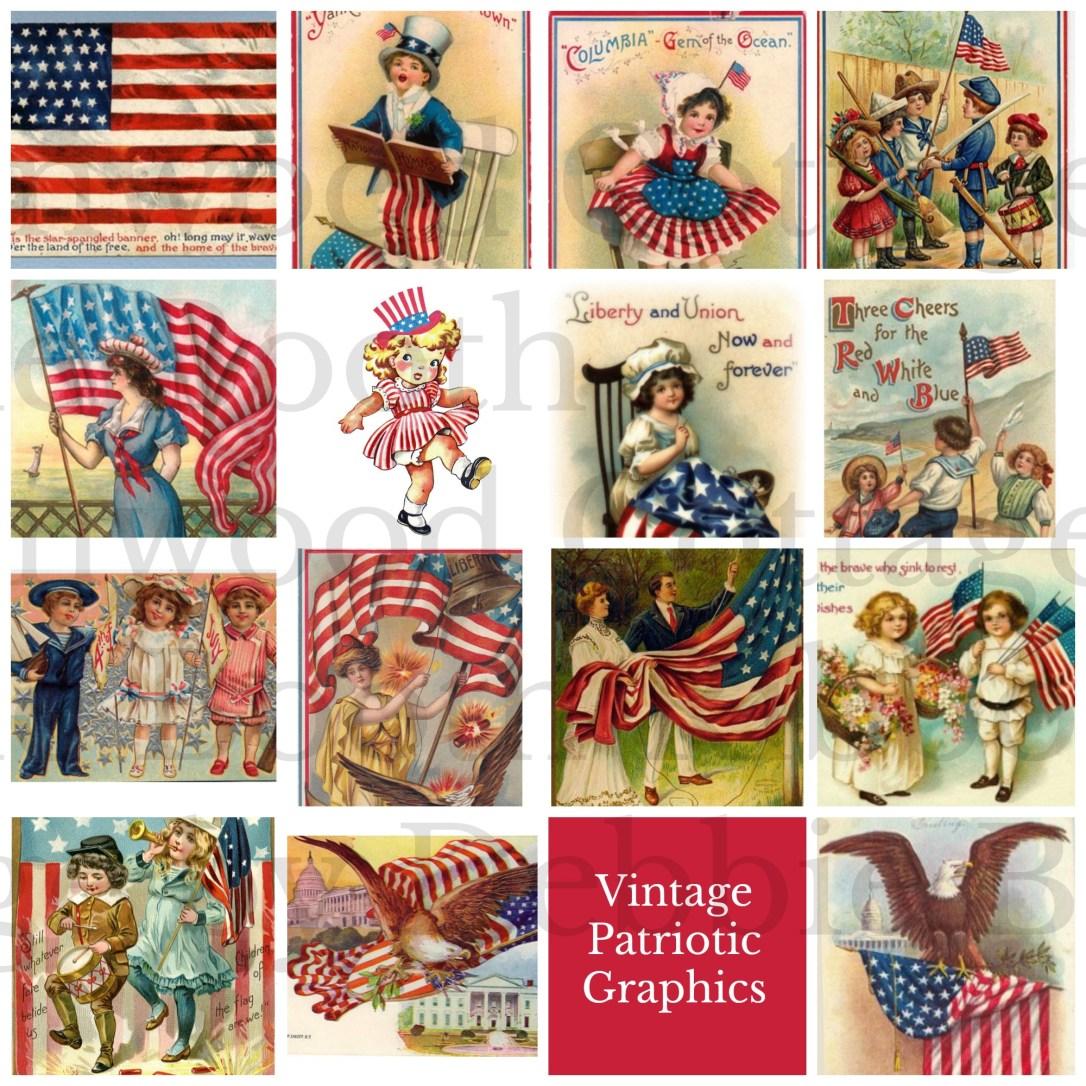 vintage patriotic squares watermark