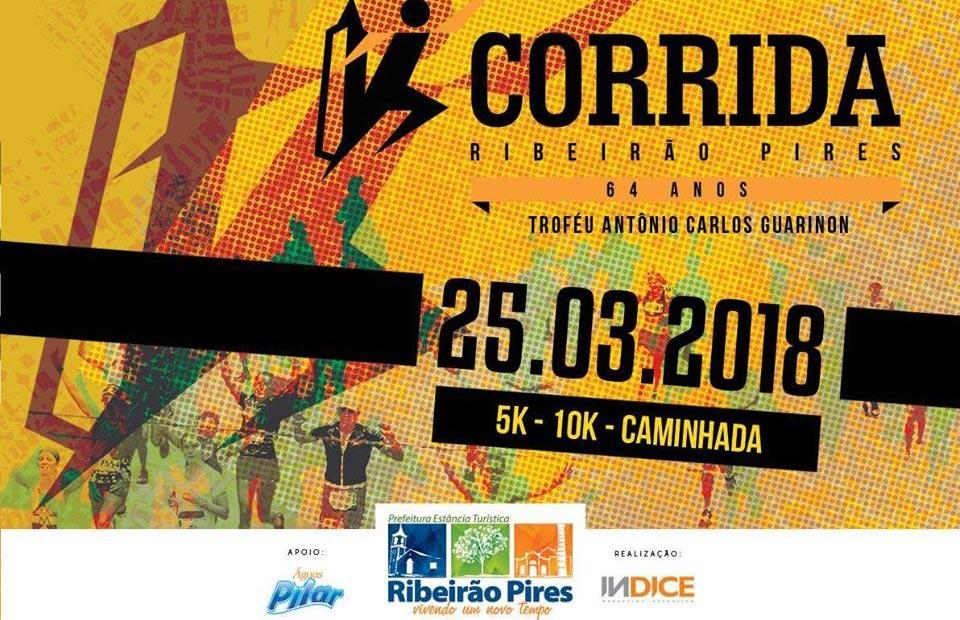 Inscrições abertas: Corrida e caminhada de aniversário de Ribeirão Pires