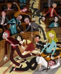 Politicians in parliament