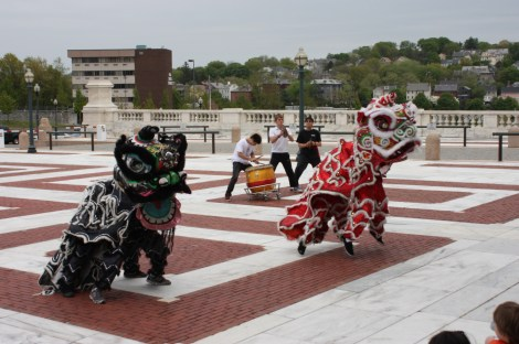 The Brown University Lion Dance Team Starts Off the Program!