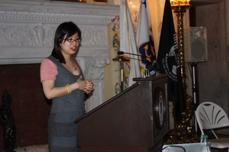 Grace Lin Gives her Keynote Speech in the RI State House.