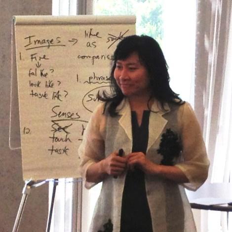 Thanhha Lai gives a writing workshop