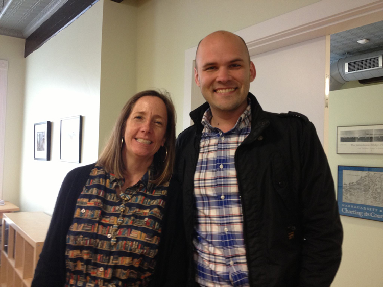 RICFB Director Kate Lentz with Author Robin Sloan
