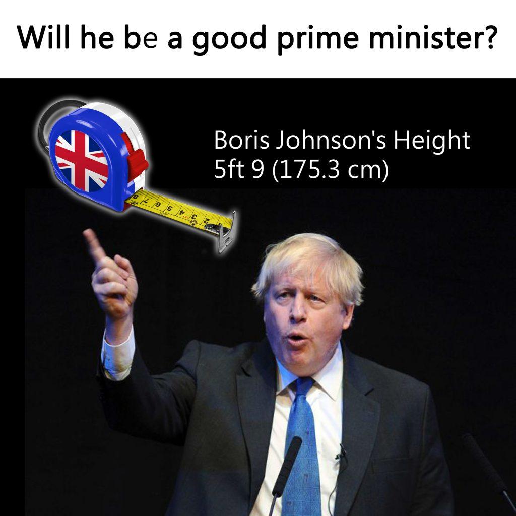 Politician Height Boris Johnson