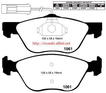 Bremsbeläge (VA)Redstuff Alfa 145/6/147/155/156/166/GTV