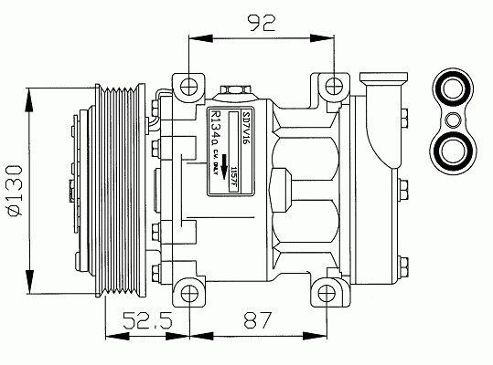 Air conditioning compressor Alfa Romeo 145, 146, 147, GT