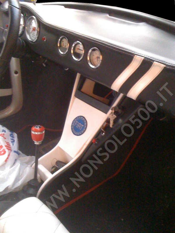 Cruscotto sportivo per Fiat 500 depoca D F L R rivestito