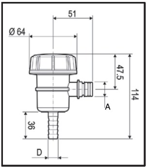 Dimensioni FILTRO ASP 309TB53 ARAG