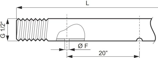 Disegno tecnico ASTA INOX 004207 ARAG