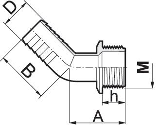 Disegno tecnico RACCORDO 114635 ARAG
