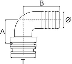 Disegno tecnico RACCORDO 1191425 ARAG