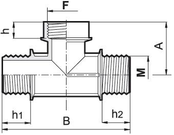 Disegno tecnico RACCORDO 132050 ARAG
