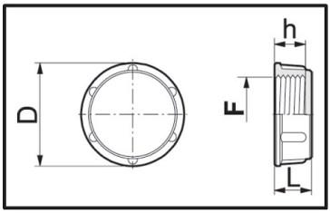 Disegno tecnico TAPPO 2102040 ARAG