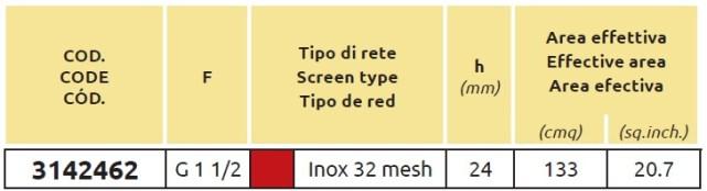 Tabella FILTRO ASPIR 3142462 ARAG (1)