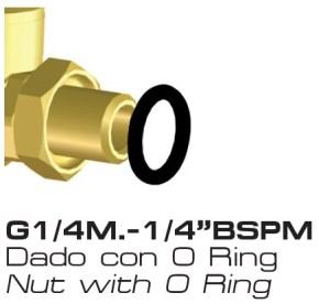 Dado con O Ring GETTO M66 66.627.13 15 BRAGLIA