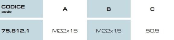 Dimensioni kit regolazione M75 75.812.1 BRAGLIA (1)