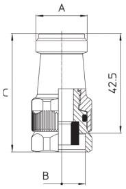 Dimensioni kit regolazione M75 75.812.1 BRAGLIA