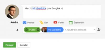 post sur Google+ (presque) parfait