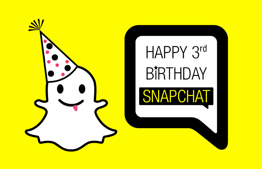Snapchat a 3 ans ! - #infographie