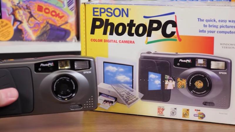 Como era uma câmera digital em 1995?