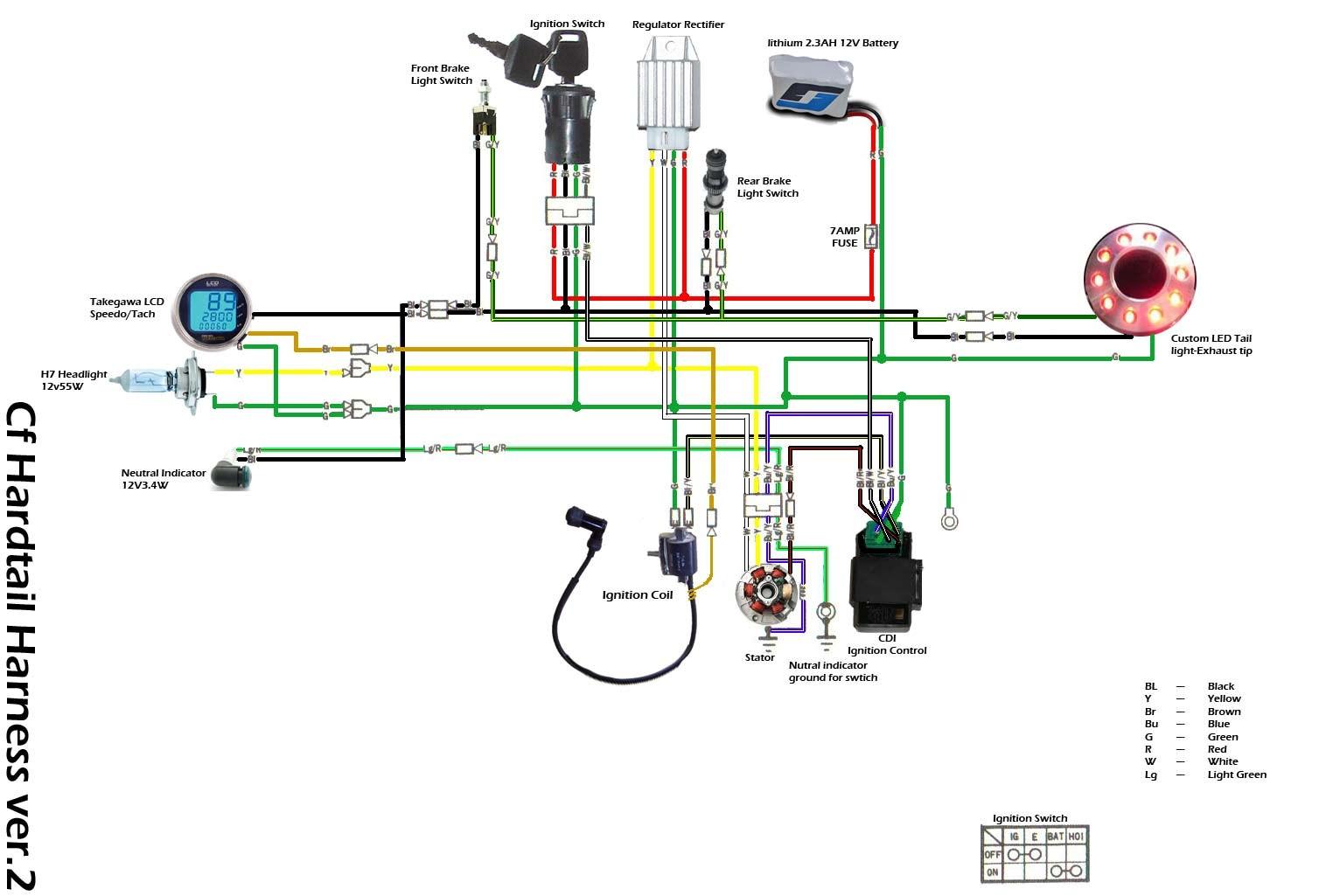 hight resolution of  110 pit bike wiring diagram free wiring diagram ssr wiring diagram on ssr 125 lights