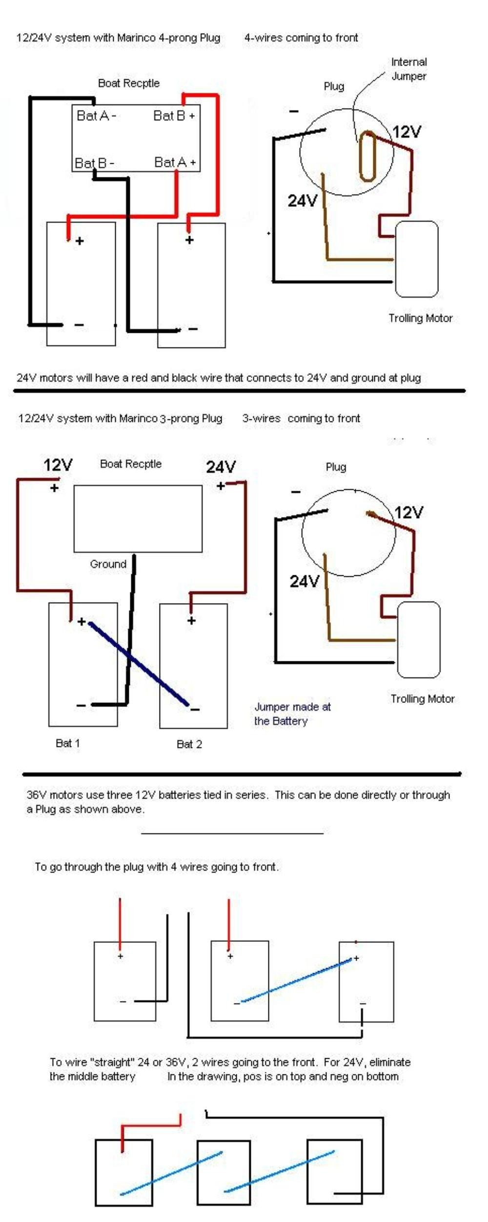 hight resolution of 36 volt trolling diagrams wiring diagram used 24v trolling motor wiring diagram of system
