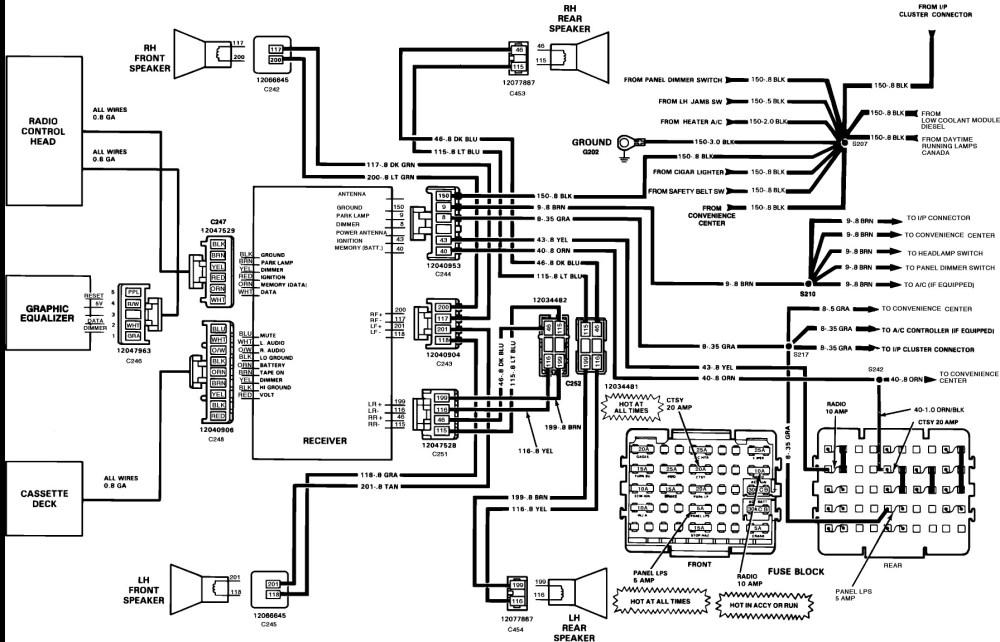 medium resolution of 1990 chevy silverado radio wiring diagram
