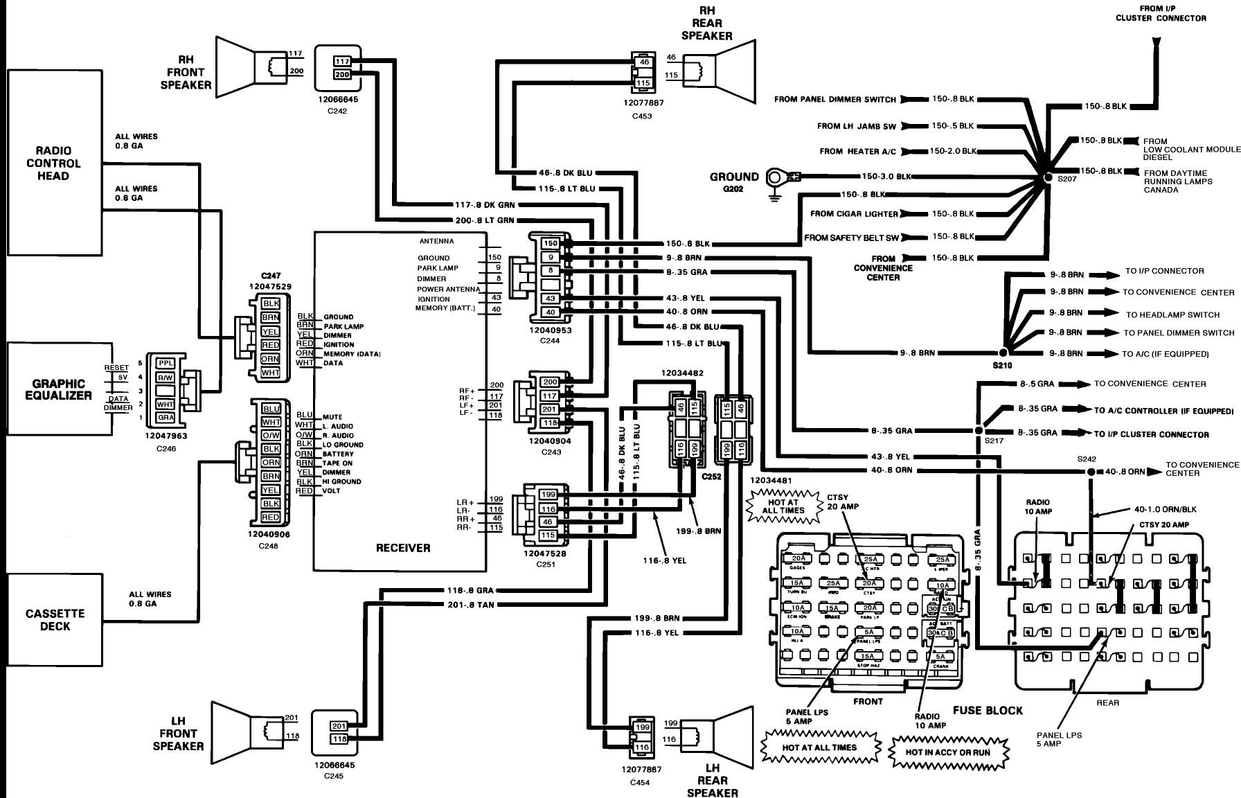 hight resolution of 1990 chevy silverado radio wiring diagram