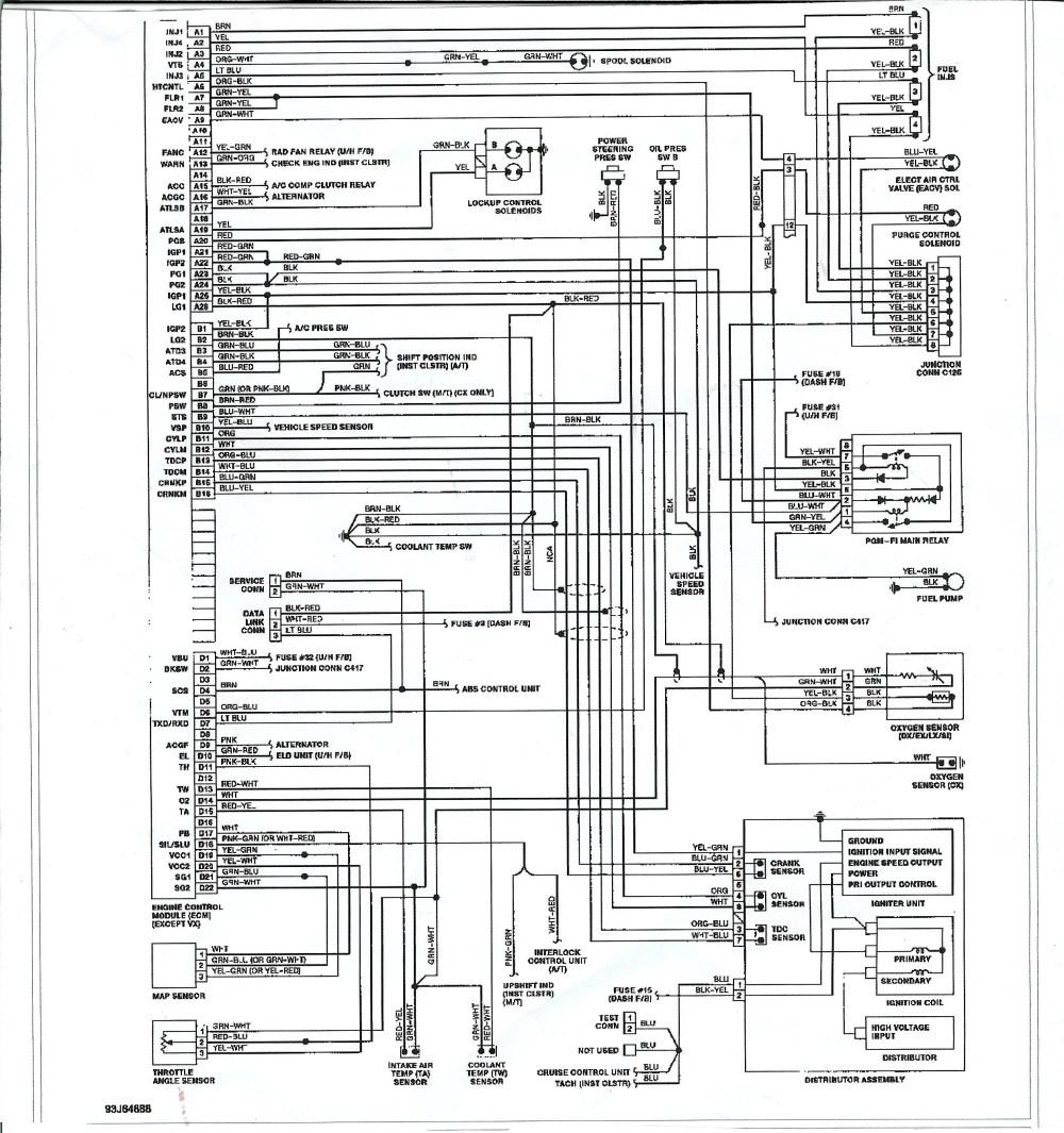 medium resolution of 1991 honda civic electrical wiring diagram and schematics