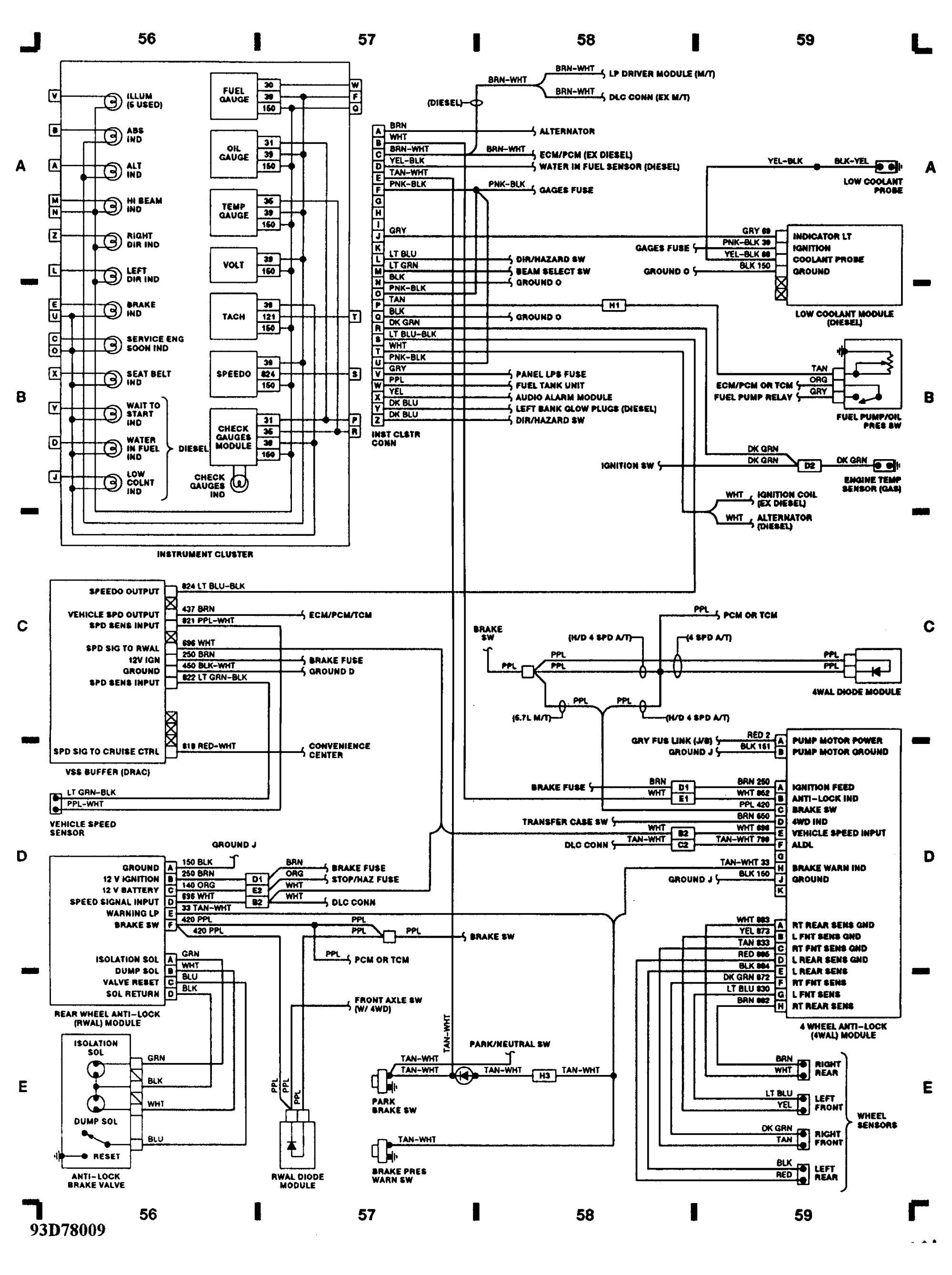 hight resolution of 1993 chevy silverado wiring diagram