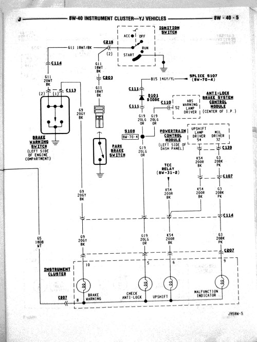 small resolution of 92 yj fuse box diagram wiring diagram mega 1997 jeep wrangler fuse diagram fuel injector