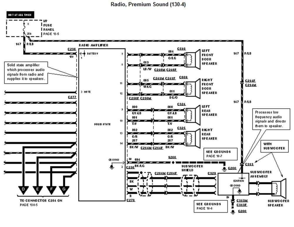 medium resolution of 1996 ford mustang radio wiring diagram