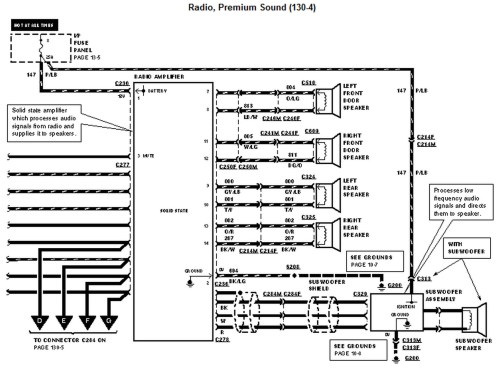 small resolution of 1996 ford mustang radio wiring diagram