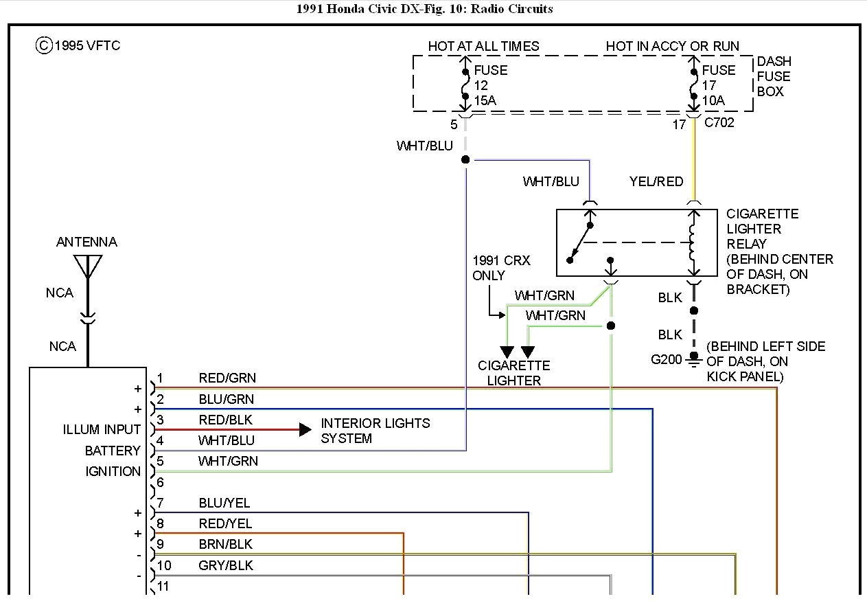hight resolution of 1996 honda civic radio wiring diagram