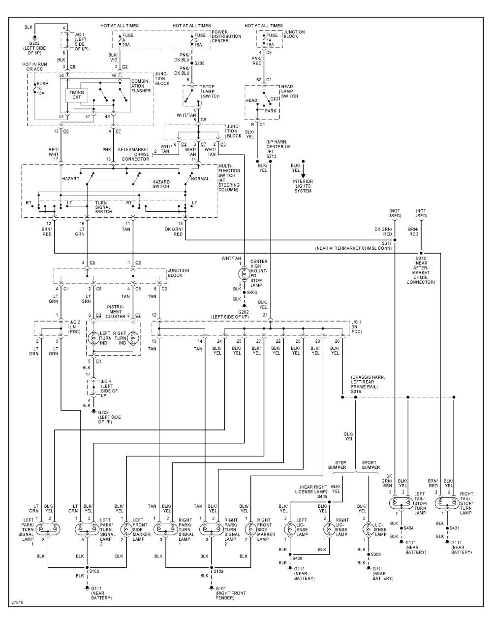 medium resolution of 1998 dodge dakota headlight switch wiring diagram dodge dakota tail light wiring diagram 2002 dodge