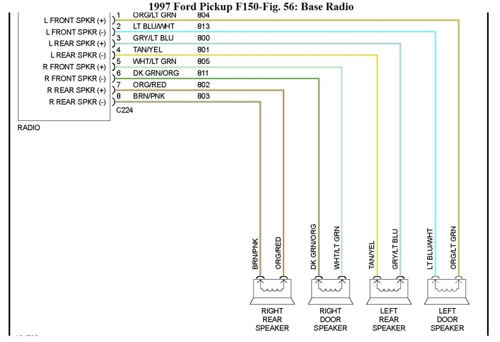 medium resolution of 1998 ford f150 radio wiring diagram