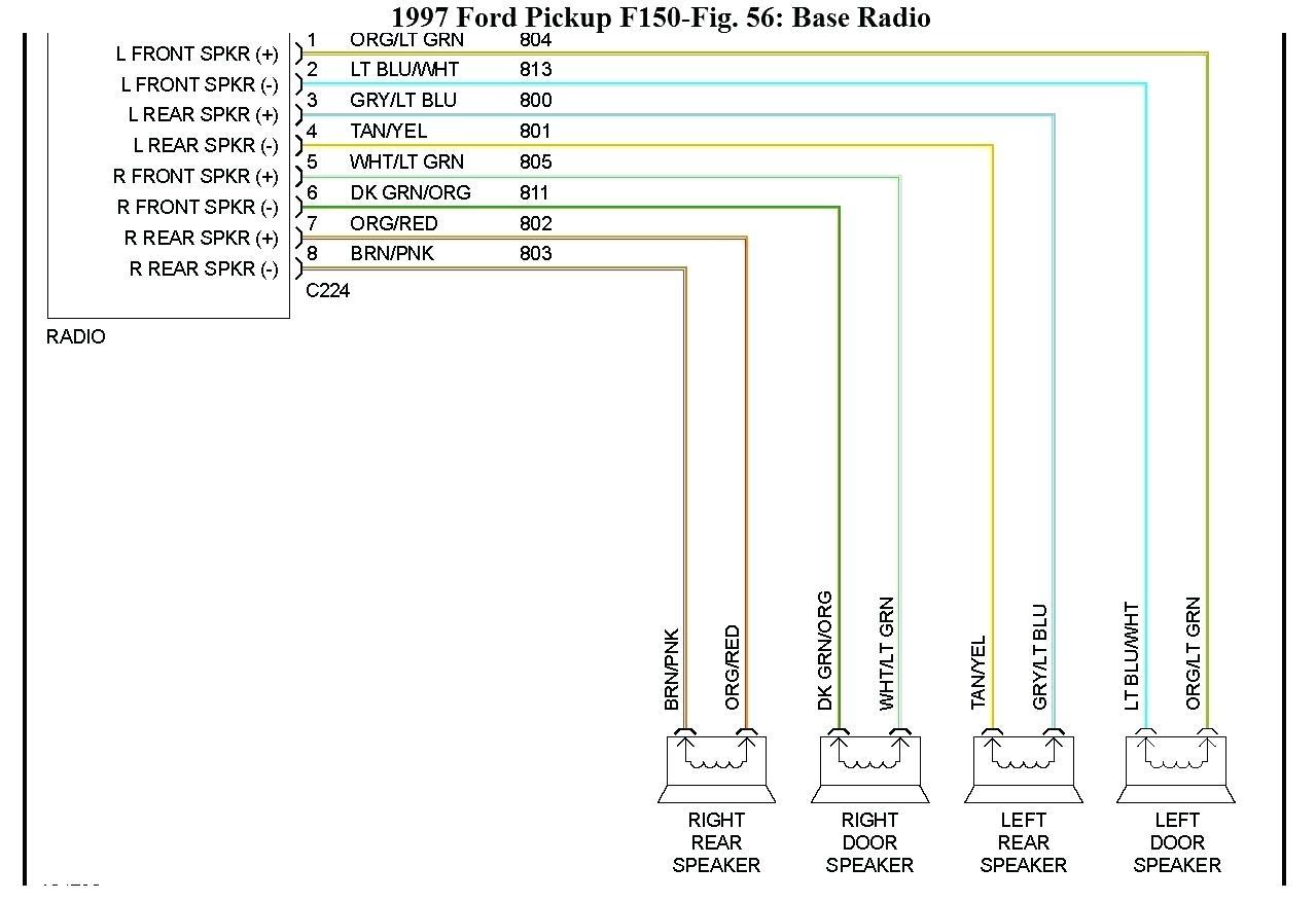 hight resolution of 1998 ford f150 radio wiring diagram