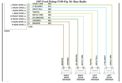small resolution of 1998 ford f150 radio wiring diagram