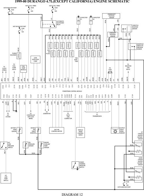 small resolution of 1999 dodge durango wiring diagram