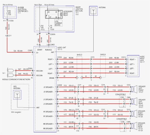 small resolution of 1999 ford mustang radio wiring diagram