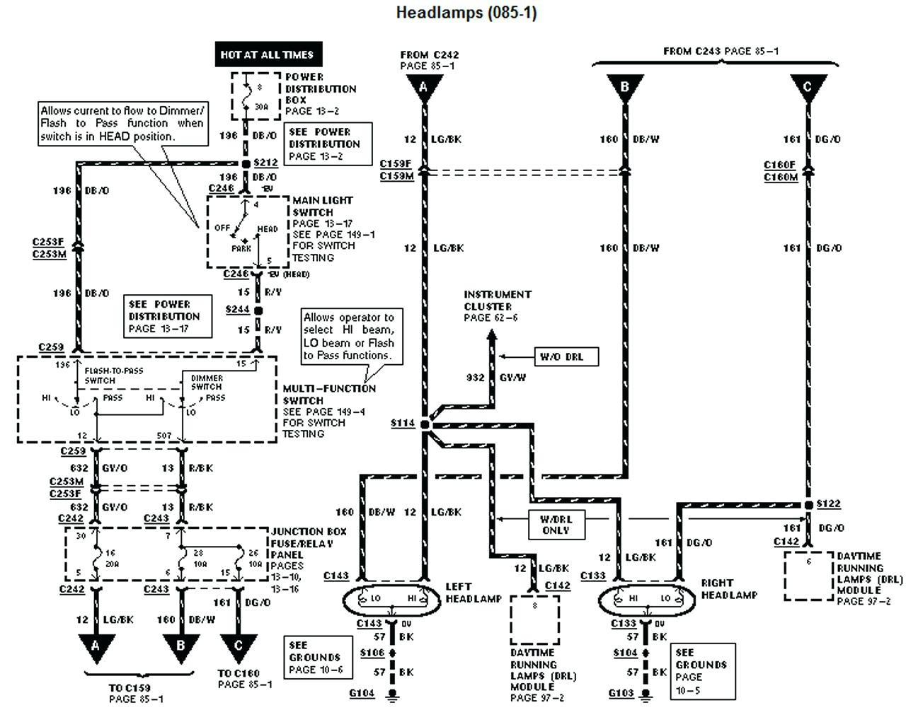 1997 ford f350 wiring diagram ignition switch