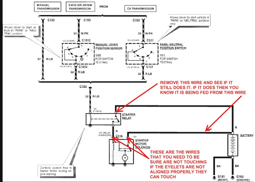 medium resolution of 2000 ford f150 starter solenoid wiring diagram free