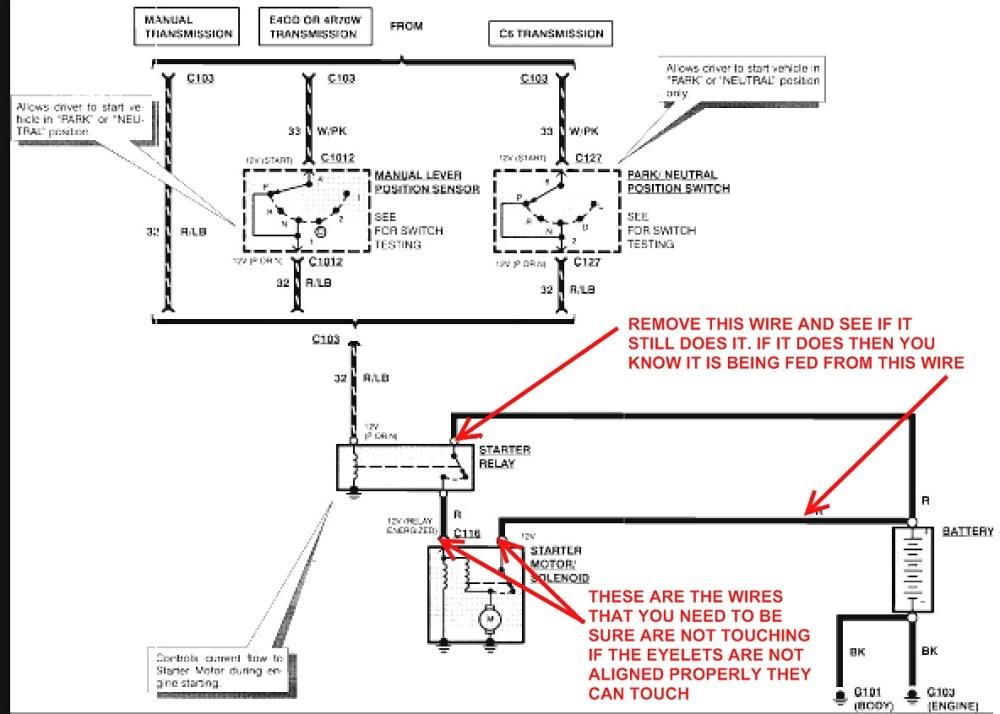 medium resolution of 1992 ford f150 starter wiring diagram 2000 ford f150 starter solenoid wiring diagram free